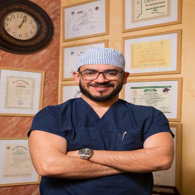 دكتور  هيثم سيد محمد  إستشاري الجراحة العامة وجراحات الجهاز الهضمي الجيزة